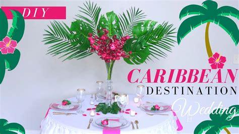 diy caribbean wedding decoration ideas easy destination