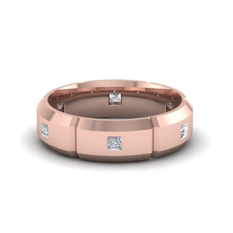 mens diamond engagement rings in 18k rose gold