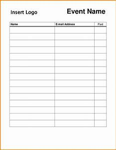 free printable sign in sheet template With free templates for sign in sheets