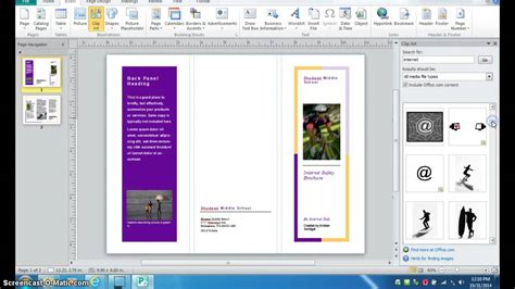 Publisher 2003 In Pictures Create A Brochure From A Template Creating A Brochure In Photoshop Arts Arts