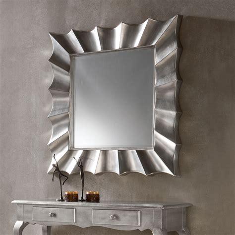 miroir mural argente laque design mandy