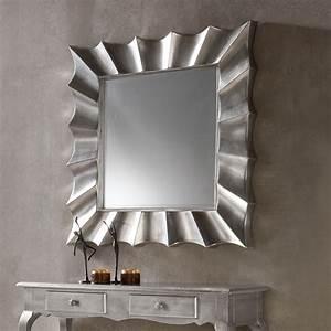 Miroir Mural Argent Laqu Design MANDY