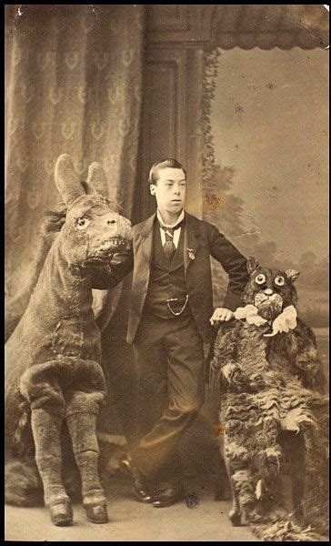 Charles Lari Around With Creepy Animal Costumes