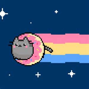 nyan cat nyan pusheen illustration design