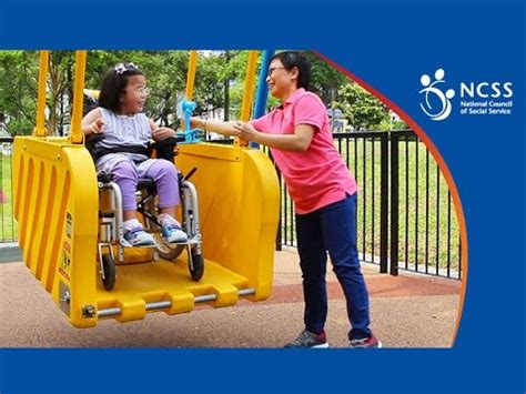 handicap swing inclusive playground wheelchair swing
