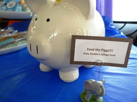 Feed The Baby Baby Shower - feed the piggy baby shower idea for college fund my