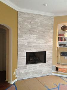 Fireplace, With, Realstone, White, Birch, Ledge, Stone