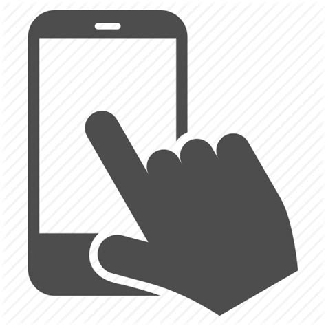 smartphone icon vector png communication finger gesture mobile point smartphone