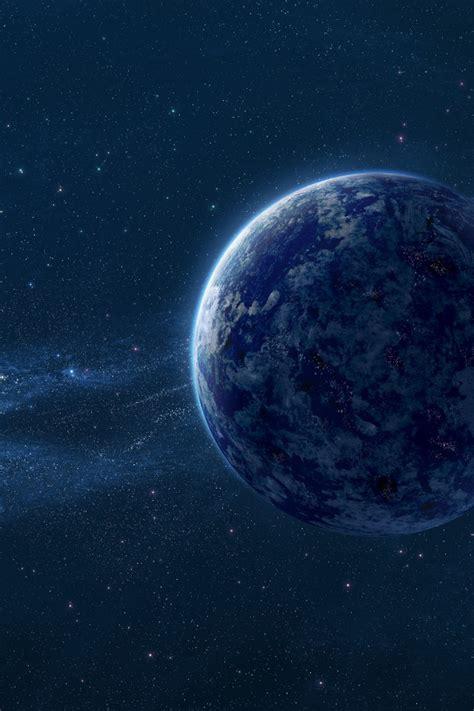 wallpaper blue planet space dust hd space