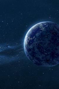 Type X Lights Wallpaper Blue Planet Space Dust Hd Space 9372