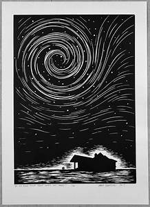 Lino Print  Do You Ever Think About What U0026 39 S Out There