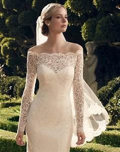 Casablanca bridal 2169 sheer lace off the shoulder wedding for Casablanca wedding dress