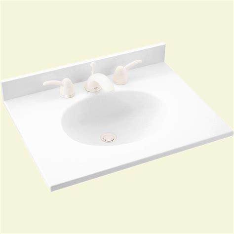 swan ellipse        solid surface vanity top