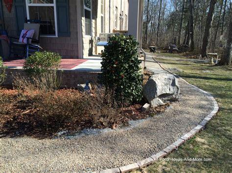 gravel sidewalk ideas diy walkway idea pea gravel for a cottage style home