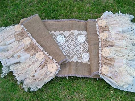 shabby chic table runner unavailable listing on etsy