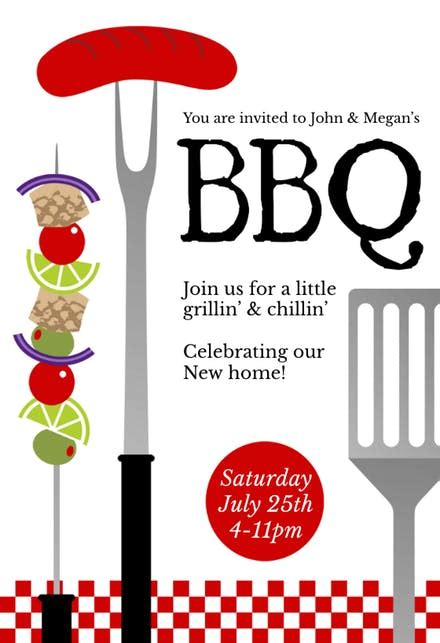 bbq party invitation flyer templates