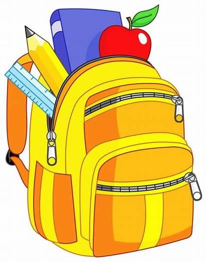 Clipart Bookbag Crayons Clip Ecole Dessin Transparent