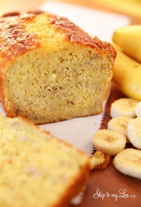 easy banana bread   cake mix skip   lou