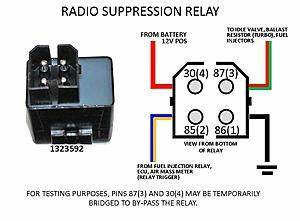 Please Help   1990 740 Radio Suppression Relay Wiring