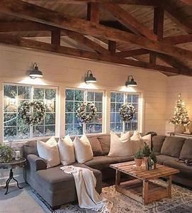 50, Cozy, Rustic, Farmhouse, Winter, Decor, Ideas, Interior