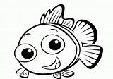 Coloring Pages Fish Cute Popular sketch template