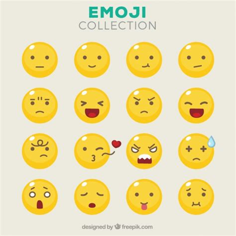 emoticons   facial expressions vector