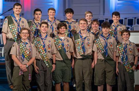 eagle scouts  troop  houston scouts earn boy