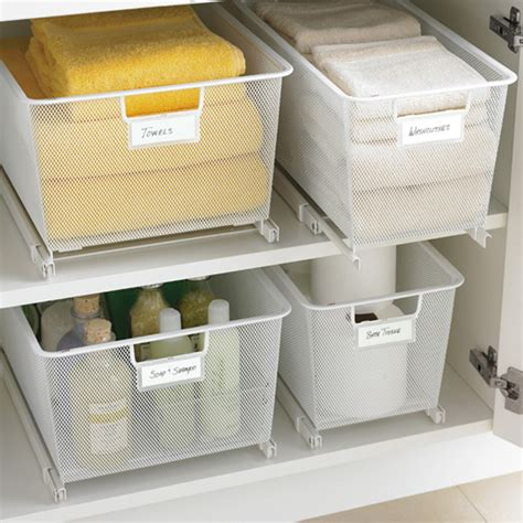 under cabinet storage containers cabinet sized elfa mesh easy gliders solution the