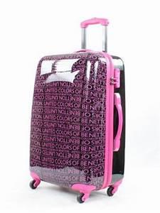 Valise Enfant Fille : valise benetton lawrence 67 cm black fushia 70363 002 67 ~ Teatrodelosmanantiales.com Idées de Décoration