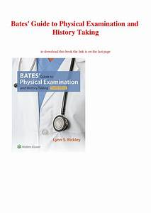 Bates Guide To Physical Examination Pdf Download