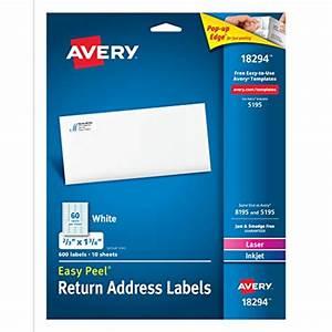 avery return address labels laser inkjet 2 3 x 1 3 4 With 4 line return address labels