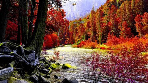 Autumn Tree Leaf Fall Animated Wallpaper - 3d fall wallpaper 61 images
