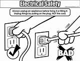 Electricity Coloring Safety Electrical Safely Unplugging Colouring Pages Related Drawings Designlooter Resolution 556px 18kb Bigger Medium sketch template