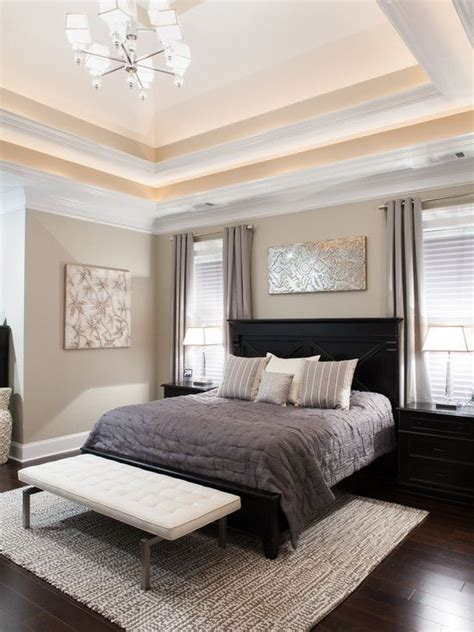 Light Brown Bedroom by Bedroom Design Transitional Bedroom With Light Brown Wall