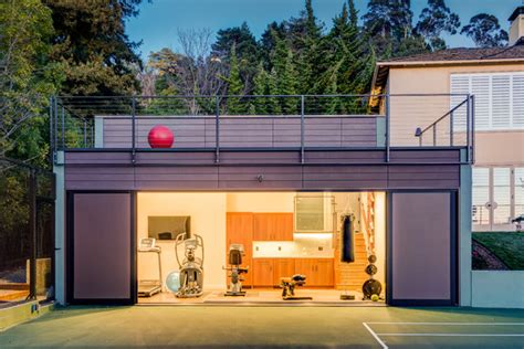 accessory building modern gym in piedmont accessory building contemporary home gym other metro by studio