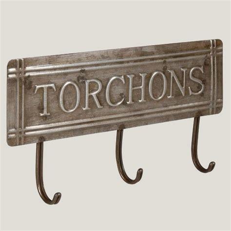 accroche torchons cuisine accroche torchons style cuisine bistrot en zinc de la marque antic line