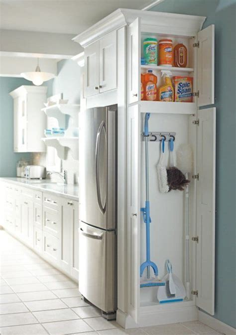 kitchen storage closet 7 broom closet storage solutions for kitchens of any size 3138