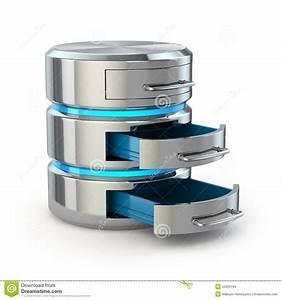 Stockage De Données : concept de stockage de base de donn es ic ne de disque dur d 39 isolement sur le blanc illustration ~ Medecine-chirurgie-esthetiques.com Avis de Voitures