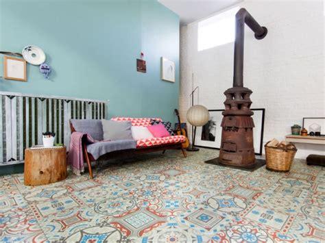 sol vinyle pour cuisine un sol vinyle imitation carreaux de ciment pour mon salon