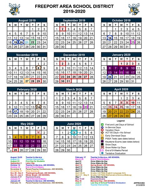 district calendar buffalo elementary school
