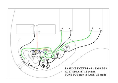 Help With Wiring Emg Bts Preamp Passive Pickups