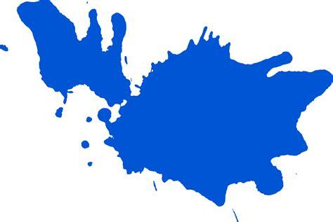 Blau Streichen by 10 Blue Paint Splatters Png Transparent Onlygfx
