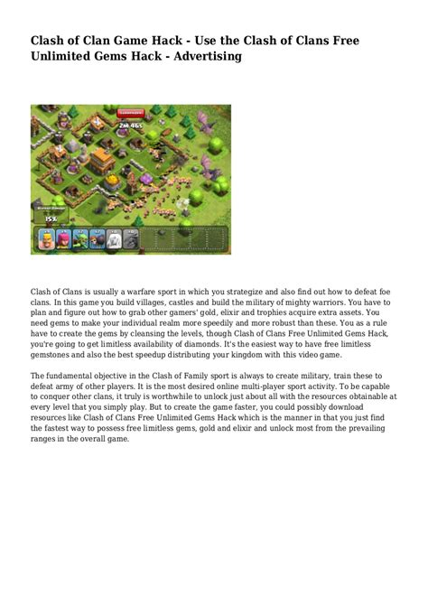 clash of clan hack use the clash of clans free unlimited gems