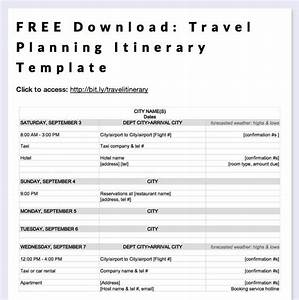 Free download travel planning itinerary template by megan for Trip planning itinerary template