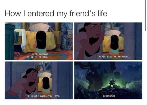 Funny Memes To Send To Friends - funny lilo and stitch meme haha how i came into all my friends lives funnies pinterest