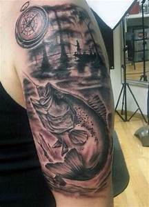 75 Fishing Tattoos For Men - Reel In Manly Design Ideas