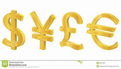 Symbols Currency Gold 3d Financial Dreamstime Illustrations