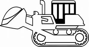 Bulldozer Side Sand Coloring Page | Wecoloringpage.com