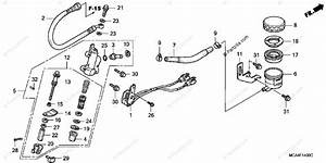 Honda Motorcycle 2002 Oem Parts Diagram For Rear Brake