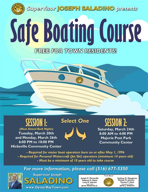 Boating Safety Is by Saladino And Johnson Announce Free Boating Safety Seminar